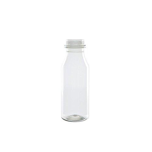 BIOZOYG Leere Flaschen Plastik Abfüllflaschen mit 50% recyceltem PET I Nachhaltige Plastik Saftflaschen PET-Flasche Smoothie-Flaschen transparent recycelbar bruchfest I 216 Kunststoff-Flaschen 250ml