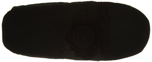Unisexe Pantoufles Velours Ultra-Léger Doux Polaire Chaud Home Slippers Imperméable Antidérapant Slip-on Doublure Flanelle Chaussons Couple Maison/ Bureau Pour Automne Hiver Cadeau Noël Noir