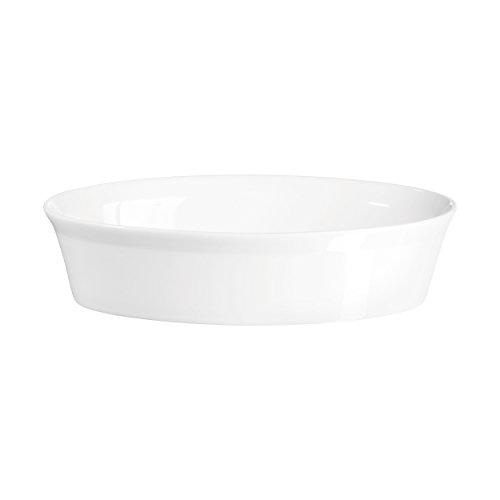 ASA-Piatto per gratin 52021017, 27 x 17 x 6,5 cm, in porcellana, colore: bianco