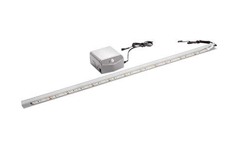 FACKELMANN LED-Waschbeckenbeleuchtung Einbau-Set / Maße: ca. 80 cm breit / batteriebetriebenes BackLight für Glasbecken / hochwertiges LED-Band für Waschtisch aus Glas / inklusive Batterien