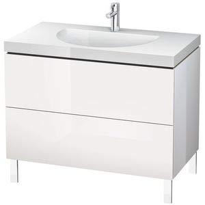 Duravit Waschtisch l-cube 698x 10002Schubladen ohne Loch Cappuccino Hochglanz -