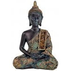 Buda decoracion de meditación - Acabados antiguos, 10×6×15 cm, Estatua decorativa de interior