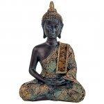 Boudhha statuette, décoration, Bouddha en Méditation - finitions antiques, 10x6x15 cm