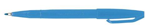 Pentel 1,0mm mit Faserspitze Sign Pen mit Line Breite farbstoffbasierter Tinte–Hellblau