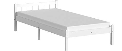 Innovareds-uk Natural Sturdy Pine Solid Wooden Single Bed Frame White