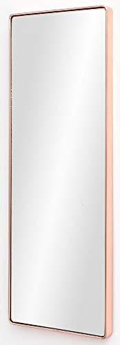 Schlafzimmer Spiegel (FineBuy Wandspiegel FB13965 Kupfer 36 x 100 x 4 cm Spiegel Modern Rahmen Groß | Hängespiegel Schlafzimmer Rechteckig | Garderobenspiegel Flur zum Aufhängen Eckig | Design Dekospiegel Wand Wohnzimmer)