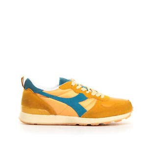 Diadora 40002 camaro used orange mustard giallo scarpe uomo sneakers 42