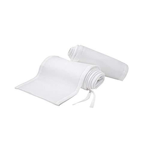 abysichere, atmungsaktive Bettumrandung für Babybett, atmungsaktiv, Netzstoff, maschinenwaschbar für Kinderbetten weiß ()