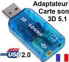 Usb 2.0 5.1 - CABLING® Adaptateur USB5.1 carte son compatible Windows