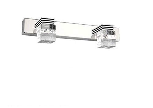 MTXLtd Badspiegel Lampen Lampen Lichter Scheinwerfer Beleuchtung Led Kristallspiegel Lichter Klar Kristall Blase Lampenschirm Badezimmer Lichter Make-Up Eitelkeit Led - Kristall Klar Beleuchtung