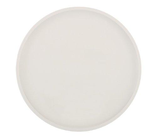 Villeroy & Boch Artesano Original Pizzateller: Stilvoller, handlicher Porzellan Teller mit leicht erhöhtem Tellerrand in Weiß / 1 x Teller: Ø 32 cm