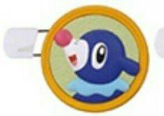 Pokemon Sun & Moon Round Brooch Pin Badge~Ashimari Popplio Robball
