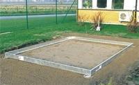 Halls Stahl-Fundament für Gewächshaus Popular 106 verzinkt
