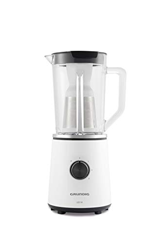 Grundig SM 6860 - Licuadora (1,5 L, 1,5 L, 22000 RPM, Batidora de vaso, Negro, Blanco, Vidrio)