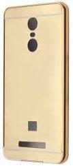 K/B Aluminium gold Metal Bumper with Acrylic Mirror Back Cover Case For Xiaomi Redmi Note 3- Gold