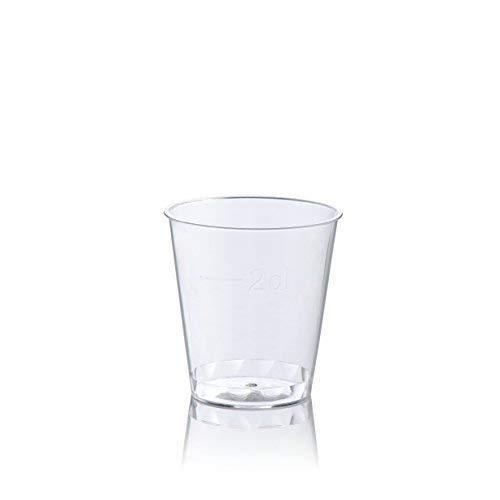 200 X Einweg Kunststoff 1oz 30ml Jelly Schnapsgläser - / Gefütterte At 2CL