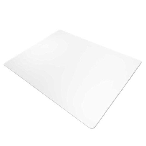 Office Marshal Bodenschutzmatte für harte Böden, rechteckig, kein Recyclingmaterial, Bisphenol A (BPA) -frei | 90x120 cm