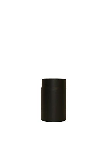 LANZZAS Homeflame Tuyau de poêle tuyau de cheminée Support 150 mm Ø 150 mm Noir