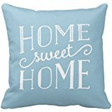 Home Sweet Home Typographic Stripe Accent Pillow Case (Stripe Accent Pillow)