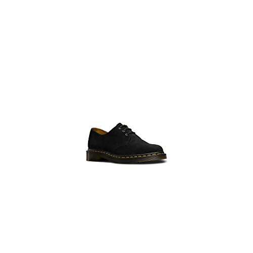 Dr Martens Hommes Noir 1461 3 Eye Nubuck Chaussures