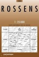 Swisstopo 1 : 25 000 Rossens: Le Gibloux - Neyruz - Marly