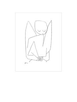 Leinwandbild Paul Klee - Vergesslicher Engel - 60 x 79.8cm - Premiumqualität - Zeichnung, Engel, Himmelswesen, Expressionismus, Klassische Moderne, Büro, Wohnzimme.. - MADE IN GERMANY - ART-GALERIE-SHOPde