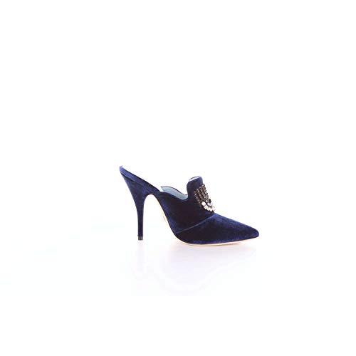Chiara Ferragni Femme CF1643BLUE Bleu Cuir Escarpins
