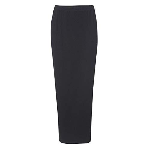 Kleinkind Pudel Röcke - Frühlings-Herbst-Frauen-beiläufige Baumwolle Lange Bleistift-Rock-elastische Taillen-Knöchel-Länge Lange