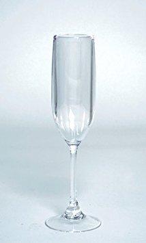 Kunststoff Champagner Flöten Champagner Gläser für Hochzeit anrösten Flöten, 6Unzen, plastik, farblos, 8 glasses