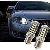 FEZZ Lampadine LED Auto S25 BA15S 1156 2835 66SMD CANBUS DRL Luci diurne
