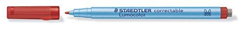 Staedtler 305 M-2 Lumocolor correctable Folienstift M-Spitze, circa 1.0 mm, 10 Stück im Kartonetui,...