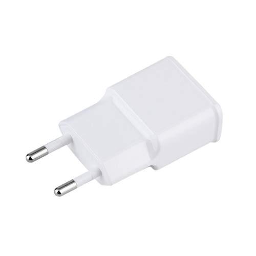 Elviray AC Ladegerät Tablet Netzteil 5V 2A Dual USB 2-Port Reiseladegerät USA Für Handy PC Weiß US/EU Stecker - Ac Tabs