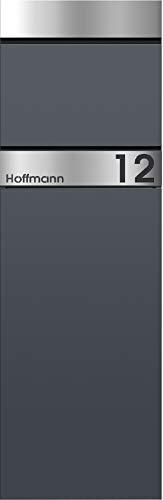 frabox Standbriefkasten Lens Anthrazitgrau/Edelstahl Edition