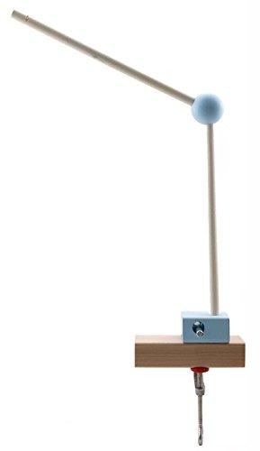 Hess 10252 - Holzspielzeug, Mobilhalter aus Holz, nature blau