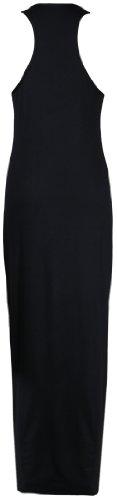 Purple Hanger - Damen Maxi Kleid U-Ausschnitt Trikot Racerback Ärmelloses Stretch Maxi Trägerkleid Schwarz