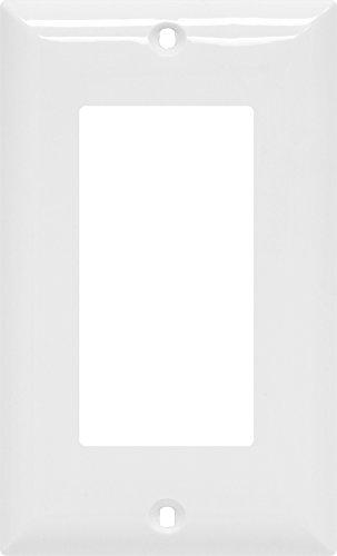 GE Single Rocker Switch Wall Plate, White Nylon 40024 by GE (GEAO7)