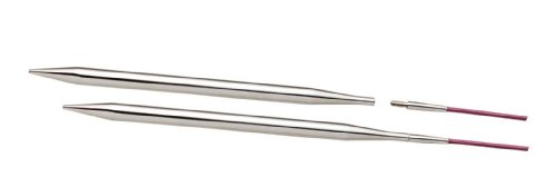 Knitpro - punte intercambiabili per ferro circolare, 3,00 mm, 100 mm, 1 coppia, in metallo