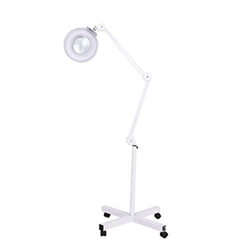 BAI lamp 16X LED Lupenleuchte Verstellbare Höhe Schattenloses Licht zum Hautpflege Beauty Maniküre Tätowierungs-Salon SPA mit Cross Support Rolling Floor Ständer -