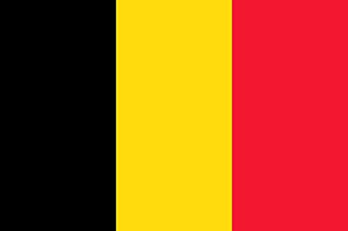 Etaia 5,4x8,4 cm Auto Aufkleber Fahne Flagge von Belgien Belgium Europa Länder Sticker Motorrad Handy