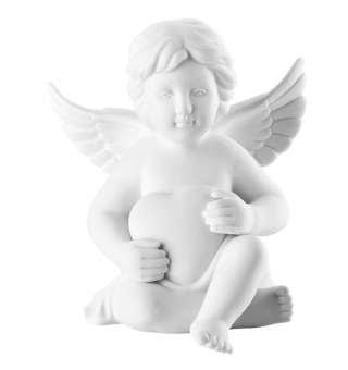 Rosenthal 69054-000102-90097 Engel mit Herz - klein - Weiss matt - Porzellan - 6,5 cm -