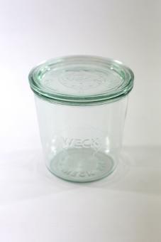 Weck rund Rand Form Jar, Glas, durchsichtig, 580 ml Jar-form