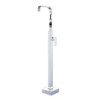 GOWE cromato da pavimento, per vasca da bagno, con rubinetto a cascata con miscelatore monocomando per vasca da bagno Sanlingo-Miscelatore indipendente