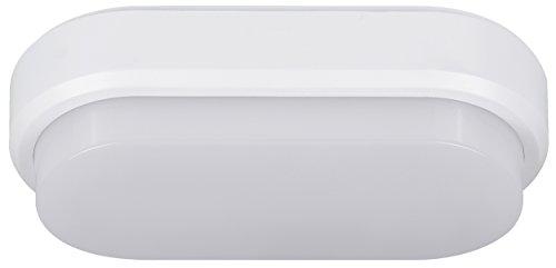 MÜLLER-LICHT LED Feuchtraumleuchte Bulkhead-Sensor IP54 Ideal Geeignet für Flur-und Kelleräume Zur Wand-und Deckenmotage, Plastik, 9 W, Weiß, 20 x 10 x 5.9 cm (Licht Wand Sensor)