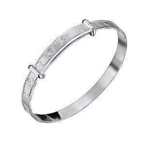 CL3474(SAFE 1) - JO FOR GIRLS Verstellbares Baby Armband aus Sterling Silber Teddybär-Design -