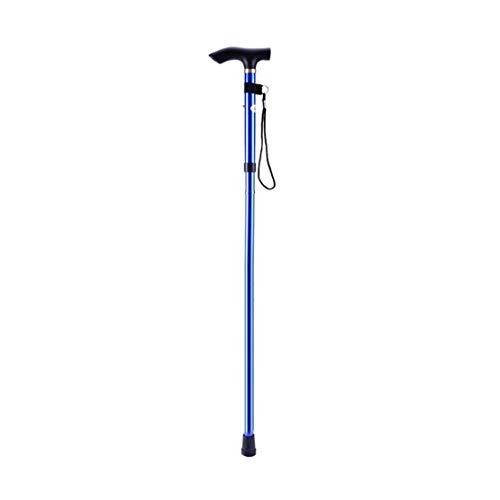LouiseEvel215 Bastón de Aluminio para Caminar, Cuatro Secciones, bastón, Ajustable, Plegable, Plegable, caña de Viaje, bastón de Trekking para Acampar
