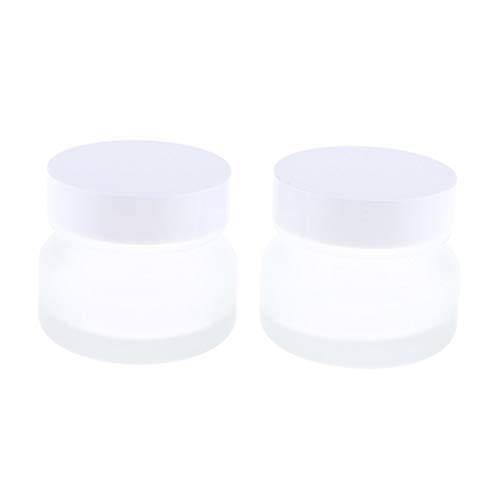 Fenteer 2x 50g Petits Pots Vide de Maquillage Récipient de Cosmétiques