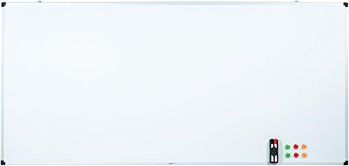 AmazonBasics Magnetisches Whiteboard mit Stiftablage und Aluminiumleisten, trocken abwischbar, 200 cm x 100 cm (B x H)
