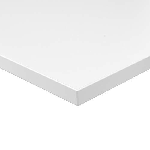 boho möbelwerkstatt DO IT Yourself Tischplatte Holzplatte Schreibtischplatte 160 x 80 x 2.5 cm in Lichtgrau (RAL7035) mit hoher Kratzfestigkeit und 120 kg Belastbarkeit