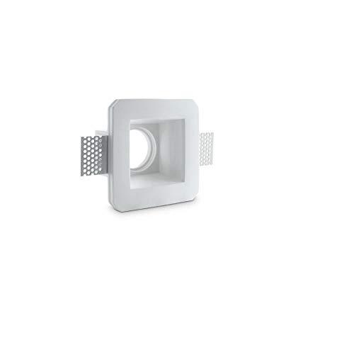 Spot encastrable carré encastrable en plâtre pour spots GU10 et gU5.3 mod. gqdtl-2007