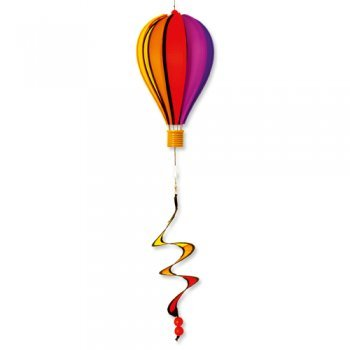 Windspiel - Micro Balloon TWISTER - wetterbeständig - Ballon: Ø17cm x 28cm, Spirale: Ø10cm x 35cm - inklusive kugelgelagerter Aufhängung